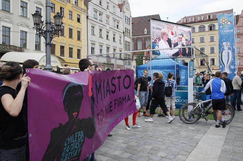 Protest w Rynku